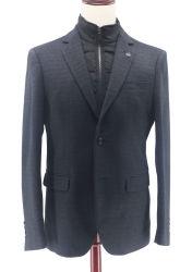 سترة رياضية للرجال من نوع Fit Suit Cotet ذات طلاء تويد Blazer مع وجه قابل للفك