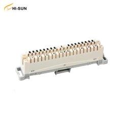 Ligação PBT/ABS/PC LSA Plus de 10 pares, revestida a fósforo Bronza prateado Módulo Krone