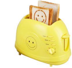 Nuevo diseño de mejor calidad 2 rodajas de emergente de plástico tostador tostador con caja de tacto frío tostador de pan