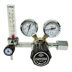 2개의 압력 게이지 및 가 있는 Chn-1 N2 질소 가스 조정기 유량계 치요다 세이키 일본 유형 25L/최소 250bar 25MPa 10bar W22-14 M12 * 1.0