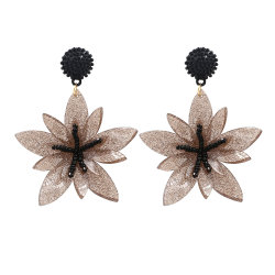 Кристально чистый звук цветы валик клея рецепторы акриловой смолы дамы украшения серьги DIY ухо кольцо