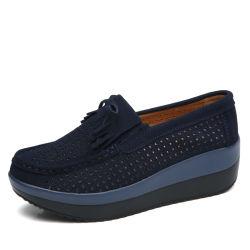 Hellosport Custom Outdoor occasionnels de plus en plus de la hauteur de cuir Jogging chaussette de patinage de marcher sur les filtres en coin fitness Shake Sneaker Shoes