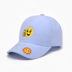 봄과 가을 새로운 면 옥스포드 피복에 의하여 수를 놓는 사랑스러운 미소 마스크 야구 롤빵 차양 모자 스포츠 모자