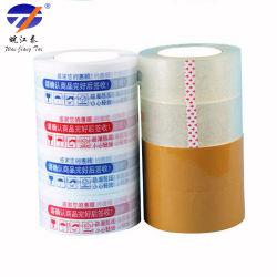 Custom Clear желтоватый BOPP клейкую уплотнительную коробки упаковочные ленты 50 мм