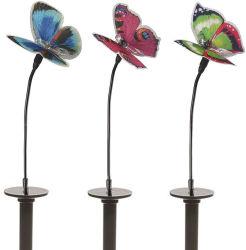 أضواء الحديقة الشمسية LED فراشة ألياف بصرية متغيرة الألوان متعددة الألوان في الهواء الطلق مصابيح تزيينية لزينة الفناء