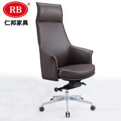 Großhandelshersteller-China-Lieferanten-Qualitäts-guter Preis-Schwenker-lederne Stühle mit Multifunktionsbrown-schwarzer Farbe