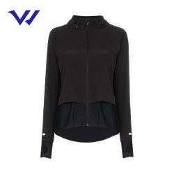 La primavera de abrigo con capucha cremallera Stretch chaqueta deportiva transpirable de secado rápido