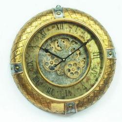 새로운 디자인 오래된 빈티지 스타일 앤티크 빅 플라스틱 기계 이동 기어 월 시계