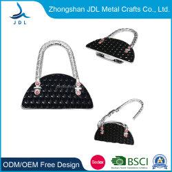 Groothandel Custom Silver Made Soft Emaille Black Bag Shape Purse Hook Bag Hanger For Bagage Use (006)