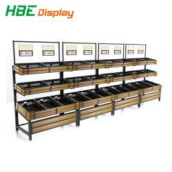 Produtos hortícolas e frutos de equipamentos de supermercado prateleira de exibição
