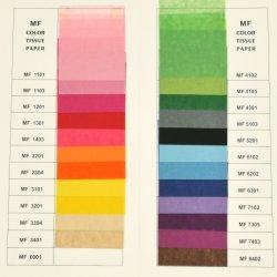 17 MF GSM de haute qualité du papier de soie d'enrubannage de couleur pour l'emballage