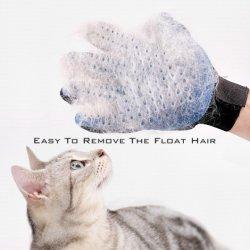 손쉬운 청소 부드러운 브러쉬 헤어 레모버 애완용품 샤워 애완동물 액세서리 공급 제품 Dog Cat Grooming 두 가지 색상의 장갑