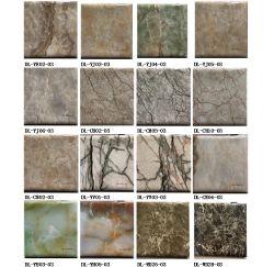 Modernes entfernbares Aufkleber-Dekoration-hölzernes Marmor Belüftung-Tapeten-Vinylselbstklebendes Marmorkontakt-Papier der Wand-3D
