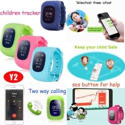 인기 있는 고품질 2G GSM Safety SOS Geo Fence Kids Smart 트래커 트래킹 GPS와 이륙기 센서 Y2 감시