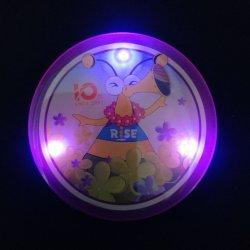 Las ventas de calor LED parpadeando Frosted Badge lindo distintivo botón Intermitente ilumina el botón de mate