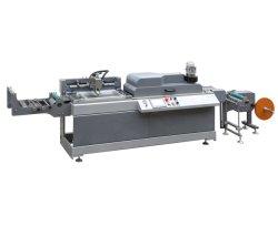 Jdz-2001 لف إلى لفة واحدة لون شاشة الحرير ملصق آلة الطباعة وماكينة طباعة على الساخن، طابعة ذات شاشة الشريط اللامع لملصقات القماش، الشريط المطاطي