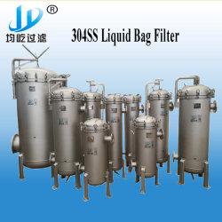 مبيت فلتر كيس سائل معالجة المياه الصناعية عالي التدفق 304ss