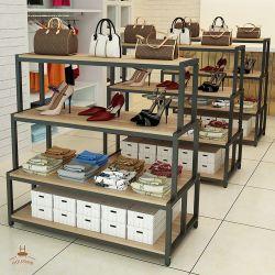 El piso intermedio zapatos cuelgan Bag Store Soporte de pantalla Pantalla Reack