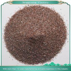 브라운은 거칠었던을%s 반토 곡물과 세그먼트 모래를 가진 내화 물질을 융합했다