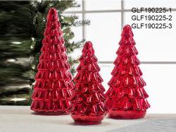 De Decoratie van Kerstmis voor de Kerstboom van het Glas van de Ambachten van de Gift