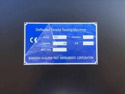 オフセット印刷ロゴメタル銘板