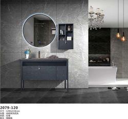 Badezimmer-Kosmetiksatz aus Massivholz mit LED-Spiegel