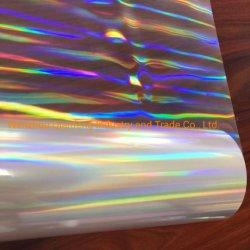 Film aluminisé Pet coloré Rainbow Papier Laser couleur magique autocollants colorés pour mariage transparent