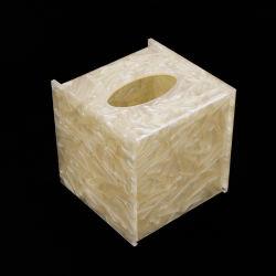 Tejido acrílico personalizado servilletas cajas de papel de impresión de logotipo de la funda