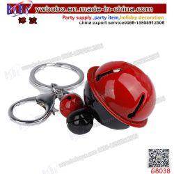 Ornamento de Navidad Cordón Rojo de alta calidad 3D de Lindos Zapatos de lona llavero con 3 Jingle Bells (G8038)