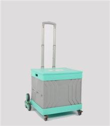 China fábrica de material plástico Compras Subir escaleras plegables carritos