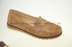 Non-Slip Low-Cutter Plana Casual calcanhar moda casual PU senhoras de calçado