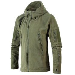Os homens personalizado piscina de Inverno Melhor vento impermeável/cinza/preto tático encapuzados Zip up Velo Softshell Jacket com o Capô