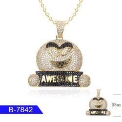 De het met de hand gemaakte Zilver van de Juwelen van de Manier of Tegenhanger van het Zirkoon van het Messing voor Verkoop