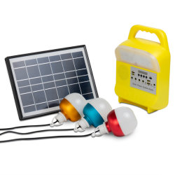 2021 نظام المولد الشمسي الجديد 5W راديو FM USB TF مصباح Slot Solar Panel LED 3 مصابيح في الهواء الطلق طراز SRE-685