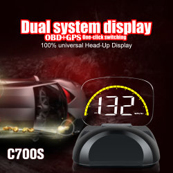 차량용 프로젝터 HUD C700의 헤드업 디스플레이 LED 디스플레이 OBD2 스캔 도구 내부 액세서리