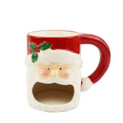 サンタクロースデザイン陶磁器のコップのクリスマスの陶磁器のコップの昇進のギフトの陶磁器のコップ