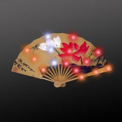 Boda de estilo chino Favor plegado Vintage LED personalizadas Abanicos