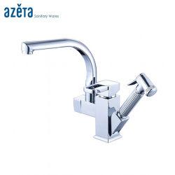 Sanitair met één handvat Badkamer of Keuken Sink kraan met Trek de Shattaf Bidet Spray Shower uit