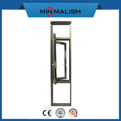 Janela Alu-Casement com vidro transparente 1.4 Alumínio para projeto de construção