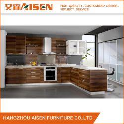 木製の表面メラミンの板の家の家具の台所キャビネット