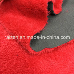 Forro Polar tejido compuesto de felpa corta tejido pegado