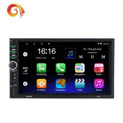 Suministro de 7 pulgadas de pantalla táctil de fábrica 7918 coche Reproductor Multimedia 2 DIN GPS incorporado WiFi Bt Radio FM y reproductor de coche Vadio