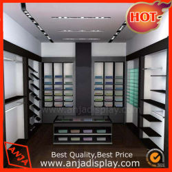 展示会のための木の靴屋の表示棚に床を張る新しいデザインOEM/ODM