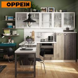 Último diseño armarios de cocina china cocina en Guangzhou (OP18-HPL01).