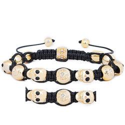 Shamballa bördelt Armband mit schwarzen Steinen (SBB155-23)