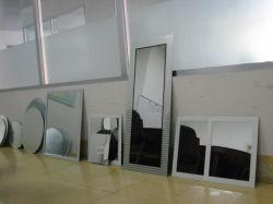 مرآة مشطوفة، زجاج مرآة فضي مشطوب لمرآة الحمام
