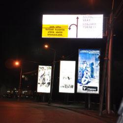 إشارات تمرير إضاءة خلفية على حامل الشارع -2