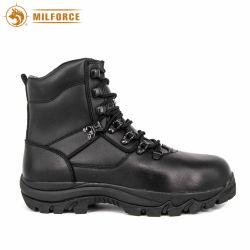 O peso leve couro preto Botas de combate militar homens curto Botas de tornozelo