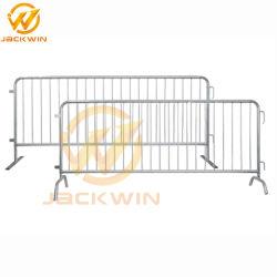 Personnalisé temporaire amovible en acier galvanisé recouvert de poudre de la construction de routes de trafic piétonnier en acier de contrôle des foules Barricade de clôture de l'Escrime barrière pour l'étape de l'événement