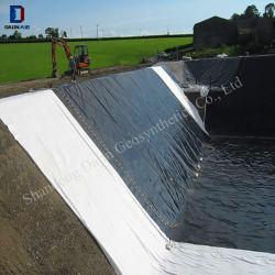 Alta tensão de rotura de HDPE Folha geomembrana de bacias de retenção a Camisa